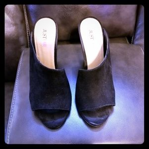 Black wedges from JustFab, size 6.5